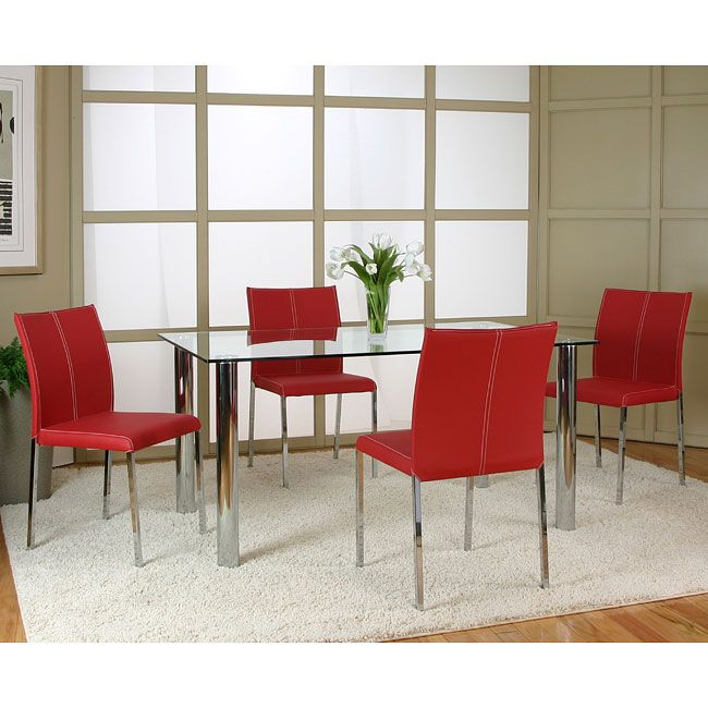 Napoli Dining Room Set W Corona Red Chairs  Furniturepick Dining Extraordinary Dining Room Chairs Red Inspiration
