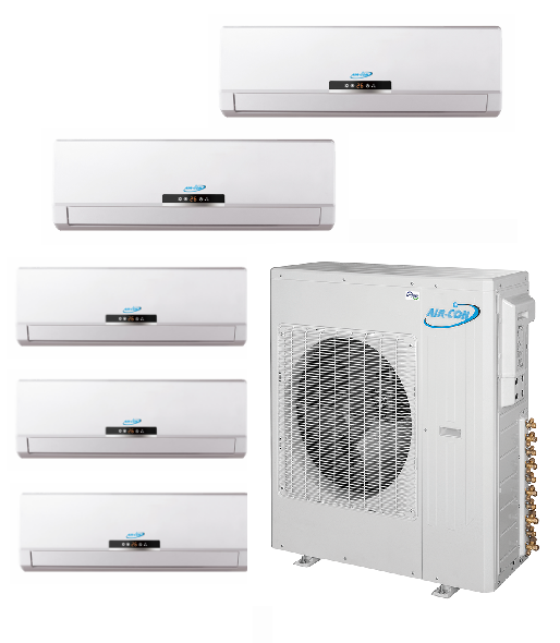 AirCon Quint Zone 5x12000 BTU 21 SEER Mini Split Heat Pump