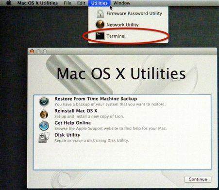 bookingtohosting: Reset Apple Mac OS X Root or admin