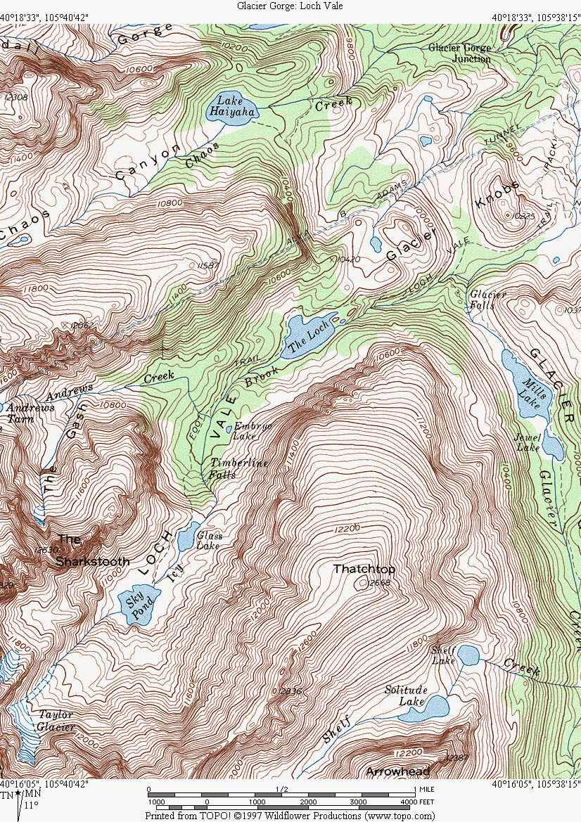 Topo map for the Bear Lake Trails | Favorite Hiking Trails | Map