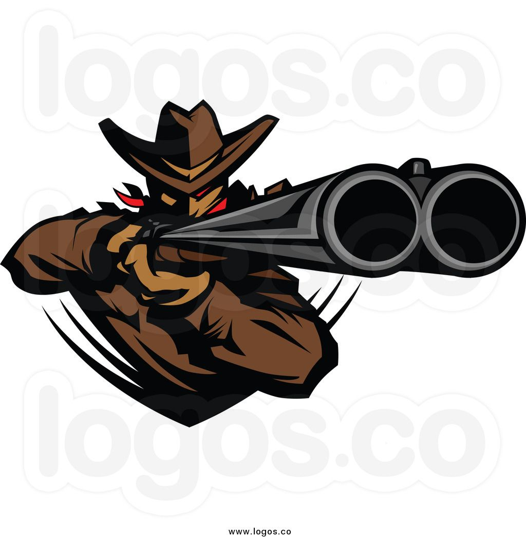Outlaw Silhouette | Double Barrel Shotgun Clipart | Man ...