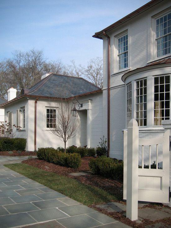 Alabaster Sherwin Williams Color 2016 House Paint Exterior Painted Brick Exteriors Beach House Exterior