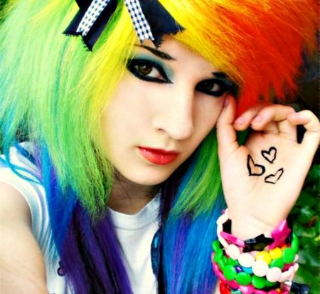 Emo rainbow girl color hair wallpapers and images desktop emo rainbow girl color hair wallpapers and images desktop voltagebd Gallery
