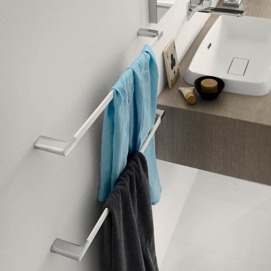 Mito Wall Mounted Towel Bar | Towels, Wall mount and Contemporary ...