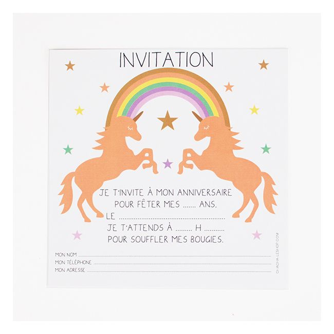 8 unicorn invitations invitation ideas. Black Bedroom Furniture Sets. Home Design Ideas