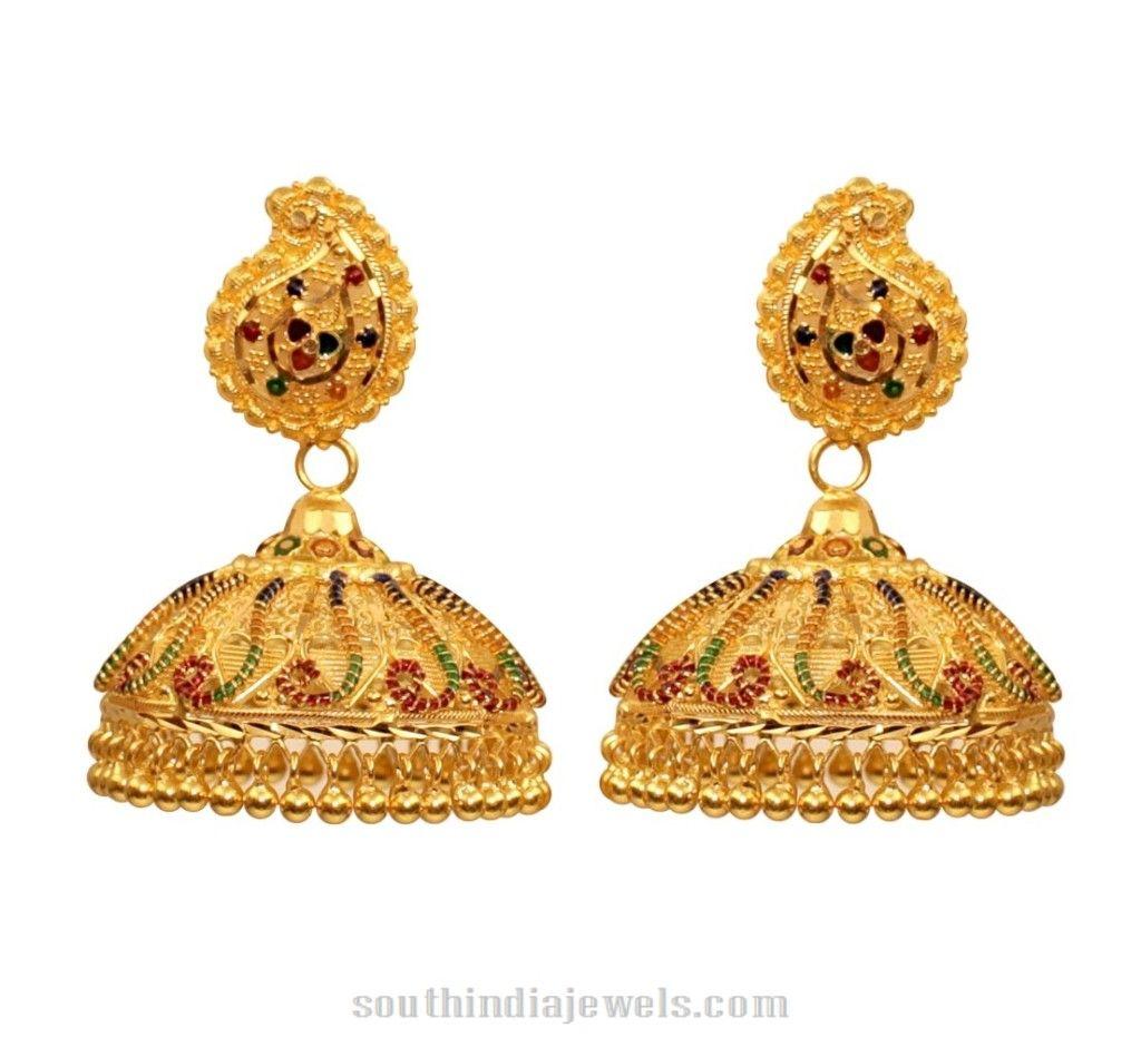 Kerala Style Gold Jhumka | Kerala, Indian jewelry and Gold