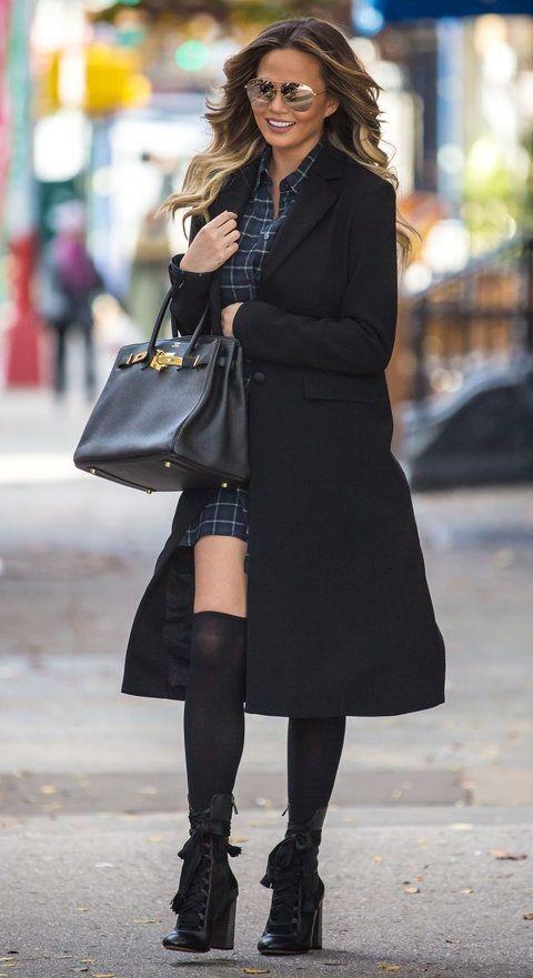 Chrissy Teigen Wears Two Chic Maternity Looks on Her Birthday - Celebrity Street Style