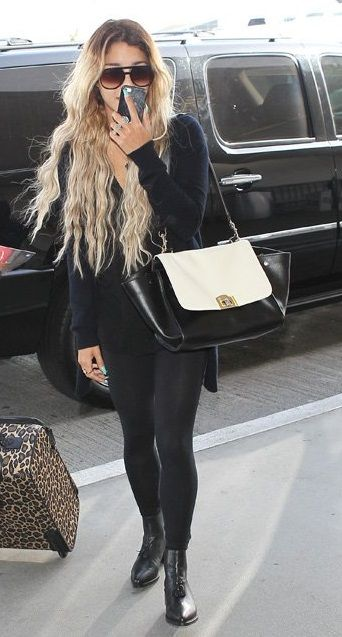 Vanessa Hudgens wearing Cuore & Pelle Caterina Bag in Ivory and Black