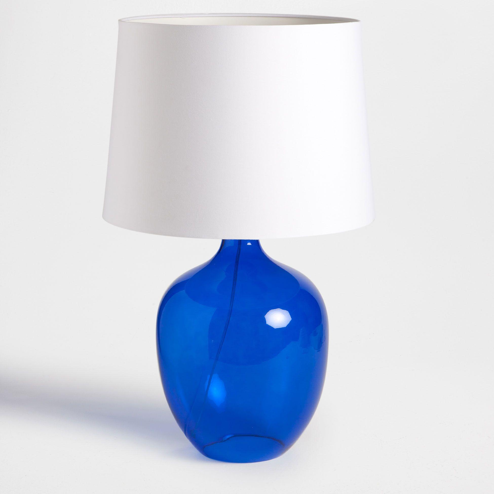 L mpara cristal azul zara home espa a blanco y azul - Zara home lamparas mesilla ...