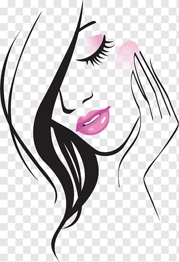Beauty Parlour Free Content Hand Painted Beauty Line Woman Illustration Free Png Cross Drawing Woman Illustration Photo Logo Design