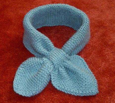 bb3b043bb6b comment tricoter une echarpe feuille Tricot Écharpe Bébé