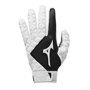 Mizuno Techfire Youth Batting Gloves - White/Black