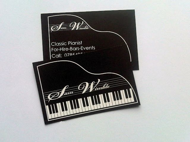 Piano Business Card Pianos Other Note Ables Business Cards