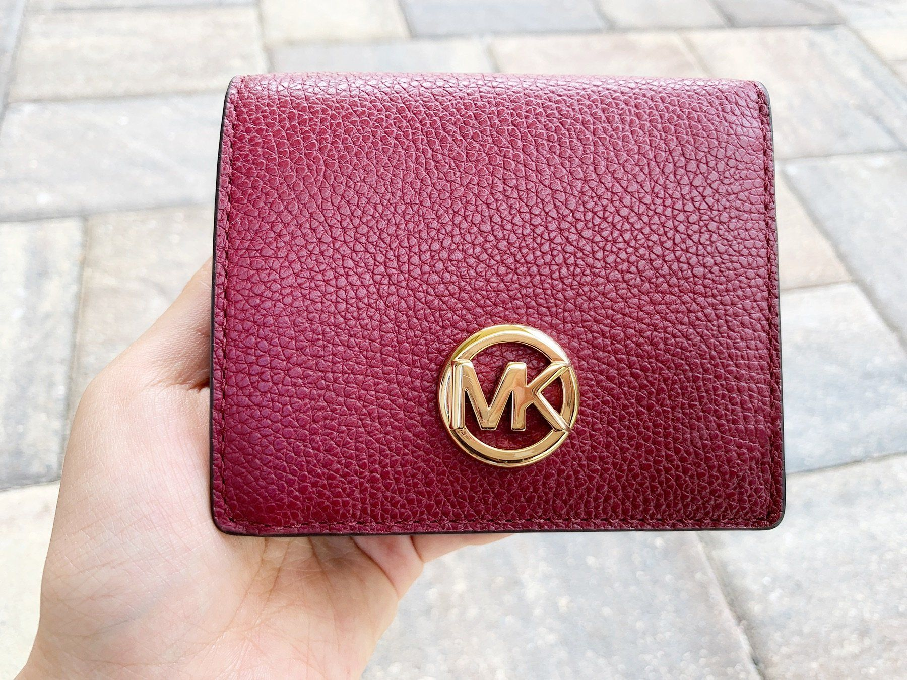 Michael kors fulton carryall card case wallet mulberry