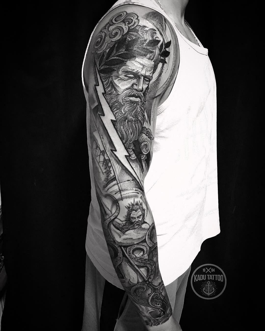 Pin By Edward Carr On Tattoo Ideas Tattoos Poseidon Tattoo Zeus