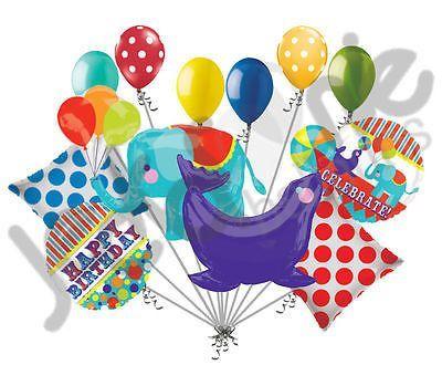 circus animal elephant seal happy birthday balloon bouquet happy rh pinterest com Balloons Clip Art Printable Peanuts Birthday Clip Art