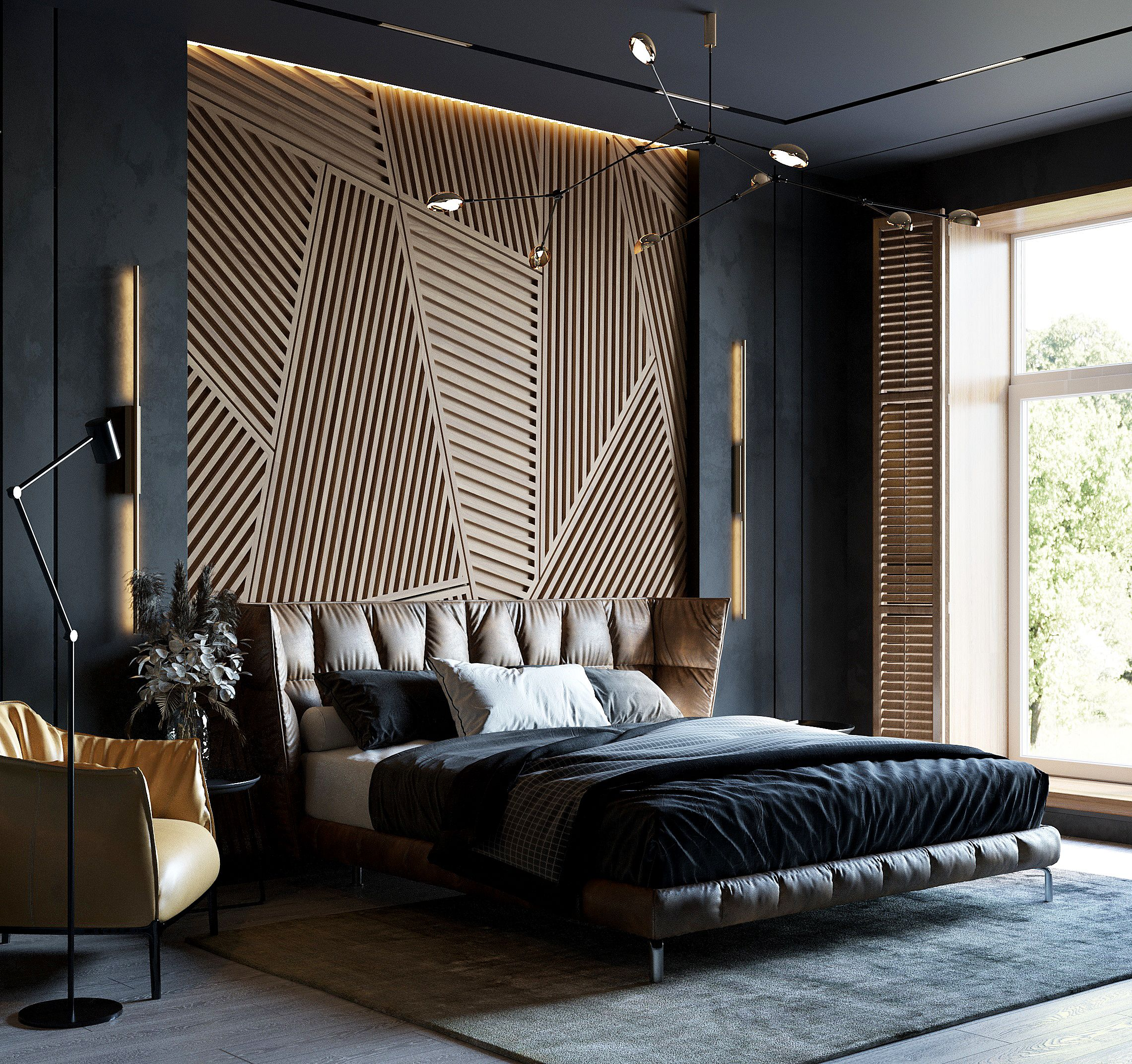 Spalnya V Temnyh Tonah Luxury Room Bedroom Luxury Bedroom Master Modern Bedroom Design Modern luxury room photo