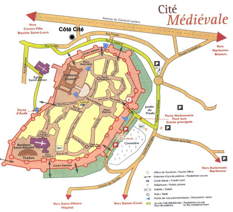 Carcassonne plan de la cit mdivale travaux Carcassonne