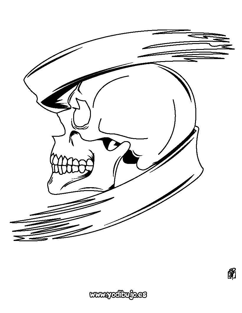 Dibujos para colorear CALAVERA - Monstruo calavera | Coloring pages ...