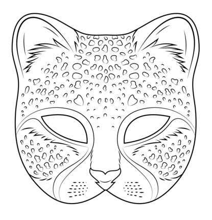 Cheetah Mask Coloring Page Coloring Mask Printable Animal Masks Mask Template