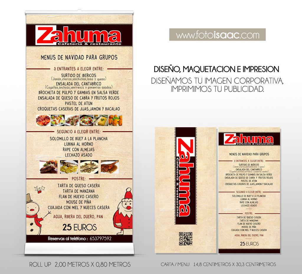 Diseño #RollUp y #Carta de #Navidad para Restaurante&Cafeteria ...
