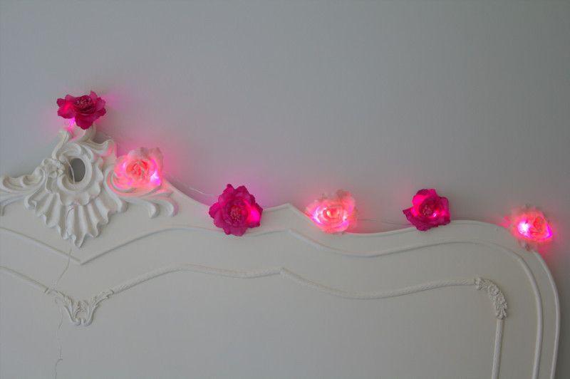 Pink String Lights Amazing Pink String Lights Hot Pink Flowers  Hot Pink Holidays  Pinterest Decorating Design