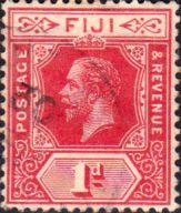 Postage Stamps Fiji 1912 King George V SG 127a Mint Scott 81 Other Fiji Stamps HERE