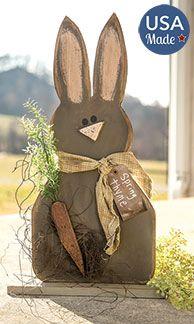 KP Creek Gifts – Chocolate Bunny on Base, 2 ft