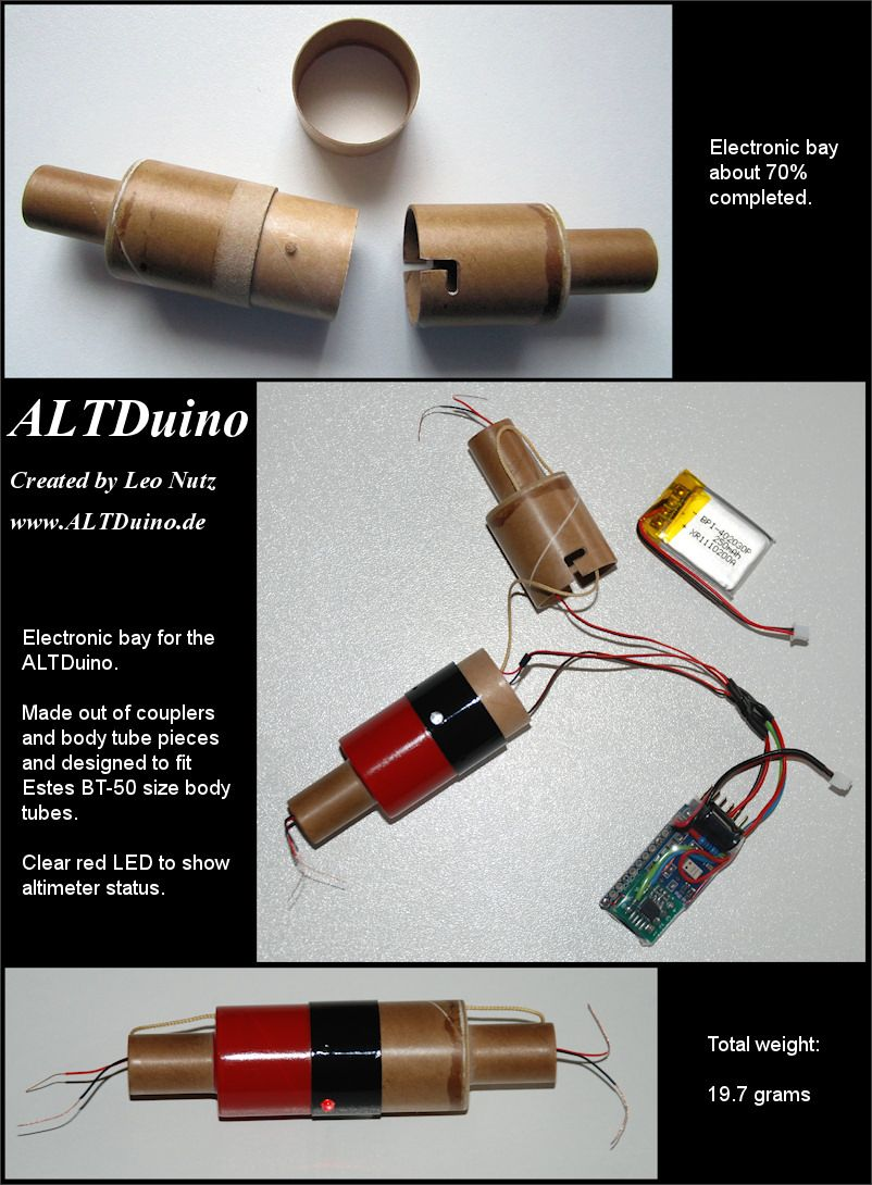 Altduino A Homemade Altimeter For Model Rockets Rocketry Wwwhomemadeelectronicscom