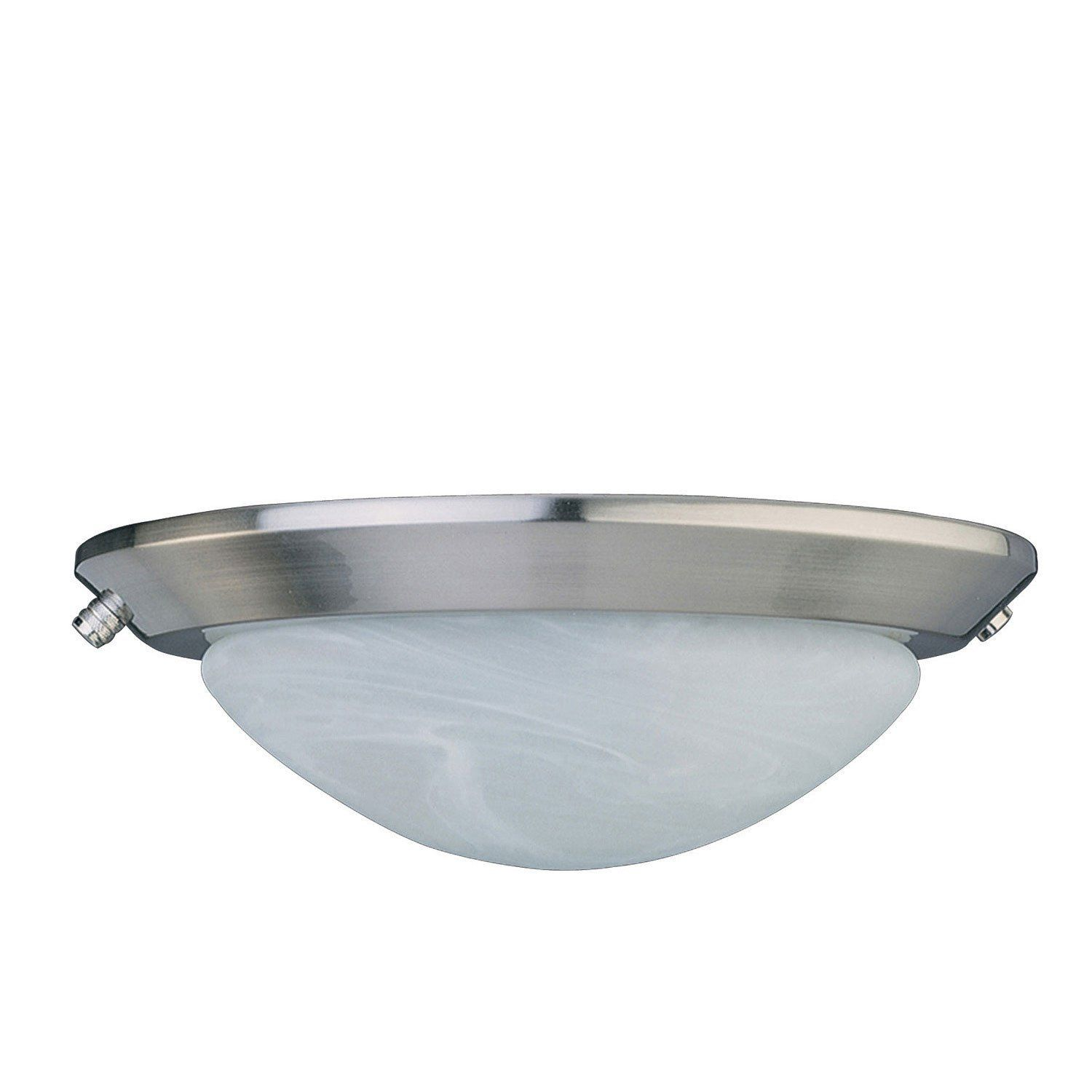 Concord Fans 2 Light Stainless Steel Finish Low Profile Ceiling