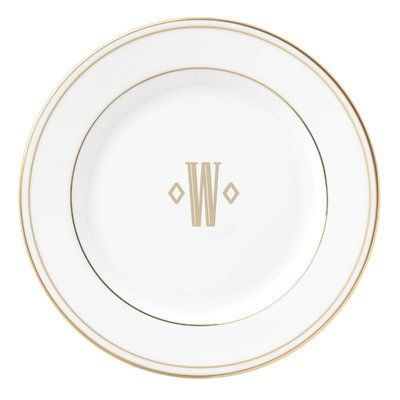 Lenox Federal Gold Monogram Block  Bread And Butter Plate