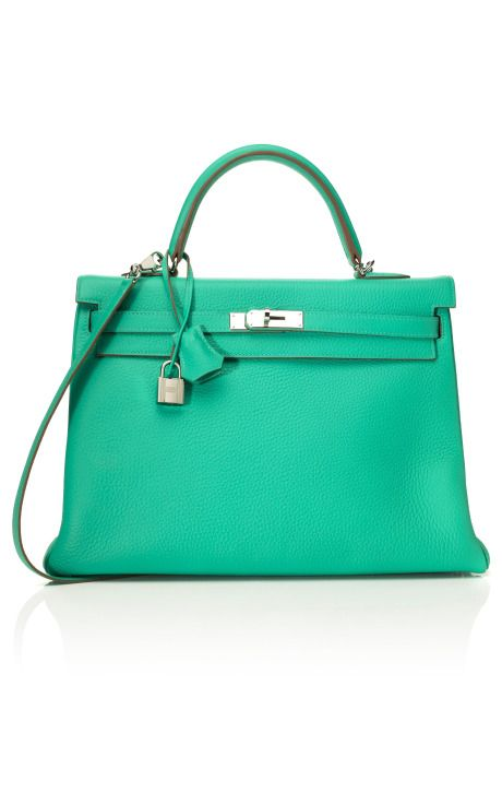 Hermes- Clemence Leather Kelly