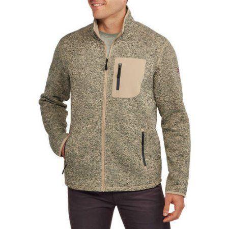 15a25c92 Swiss Tech Big Men's Marled Sweater Fleece Jacket, Size: 3XL, White ...