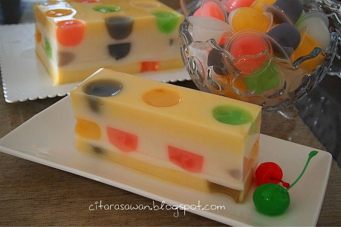 Recipes Today Puding Polkadot Fruit Jelly Pudding Desserts Hidangan Penutup Resep