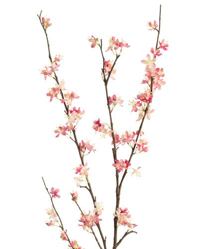 Cherry Blossom Silk Flower Stems For Casual Decorating At Petals With Images Cherry Flower Cherry Blossom Artificial Garland