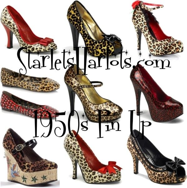 """""""Leopard Pin Up Shoes"""" by starlets-harlots on Polyvore"""