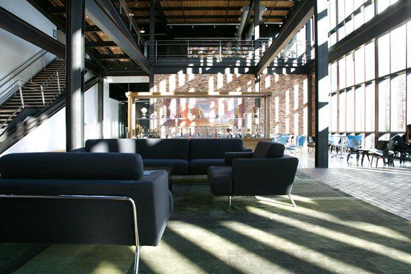 Pixar studio i enter the modern entrance hallway