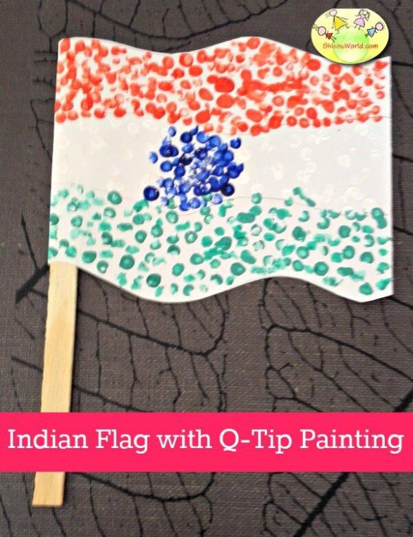 how to make indian flag with clay
