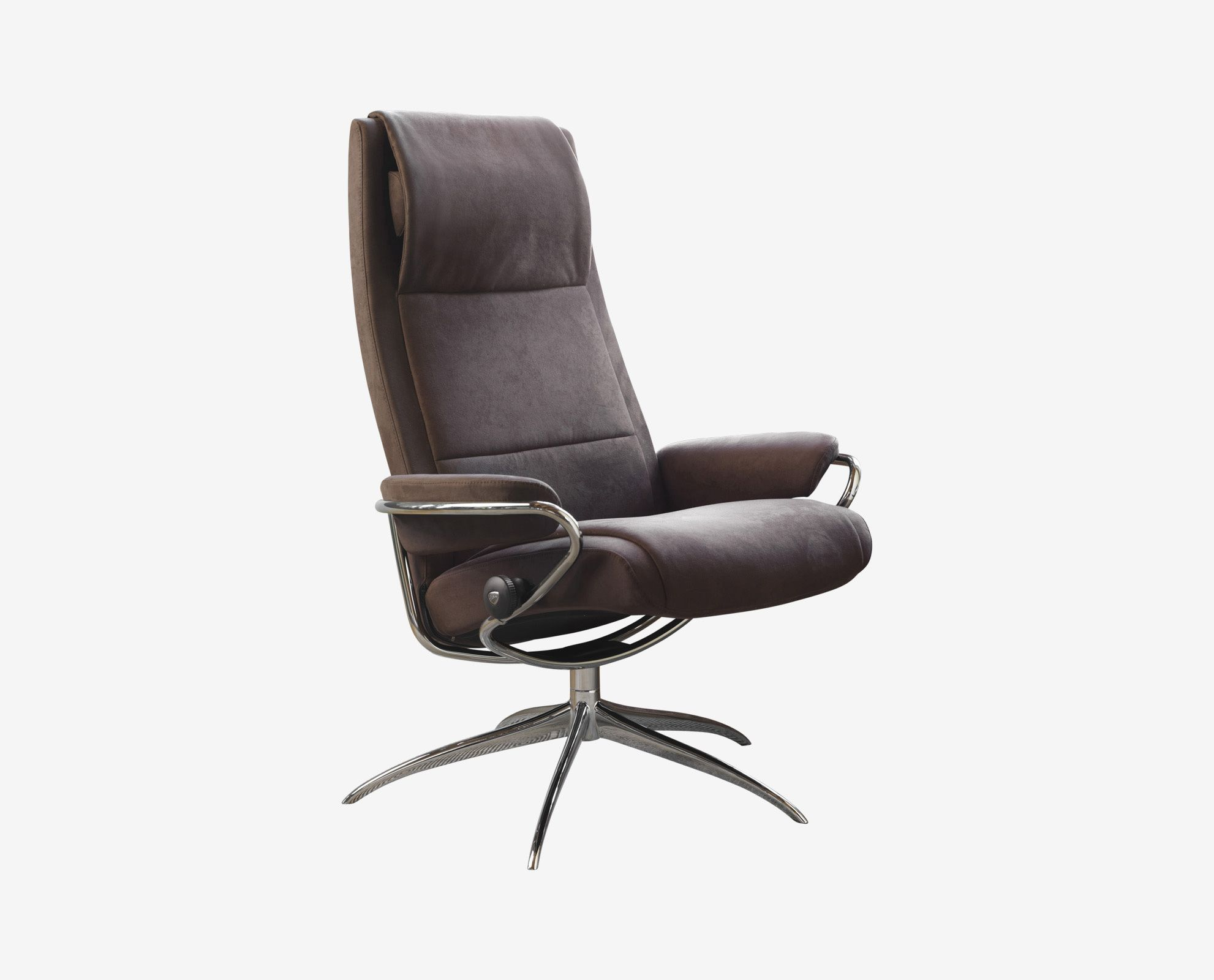 Scandinavian Designs The Paris Recliner Has An Elegant And Slender Shape Available With A 360 Degree Base And A Chro Recliner Scandinavian Design Star Shape