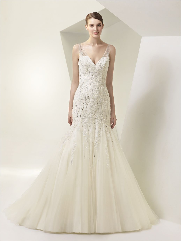 30+ V Neck Tulle Wedding Dress Ideas 2017
