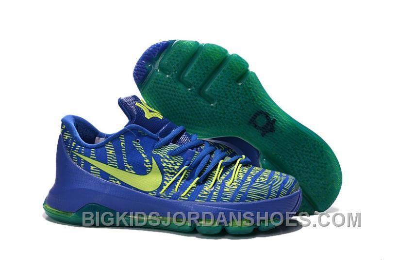 ecb6d4497329 New Nike Kd 8 Women Big Kids Kevin Durant 8 Hyper Cobalt Volt-Deep ...
