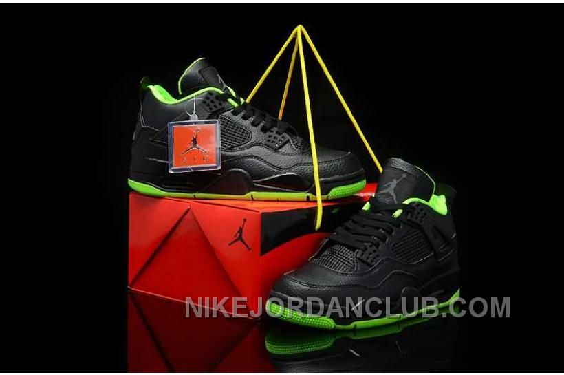 Buy Nike Air Jordan 4 Mens All Black Green Shoes New from Reliable Nike Air  Jordan 4 Mens All Black Green Shoes New suppliers.Find Quality Nike Air  Jordan 4 ... 8fb7f6bca