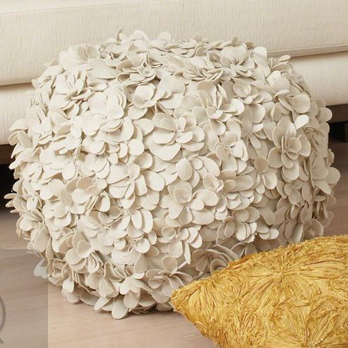 Komaki Round Pouf Global Views Flowers Pinterest Stunning How To Make A Round Pouf Ottoman