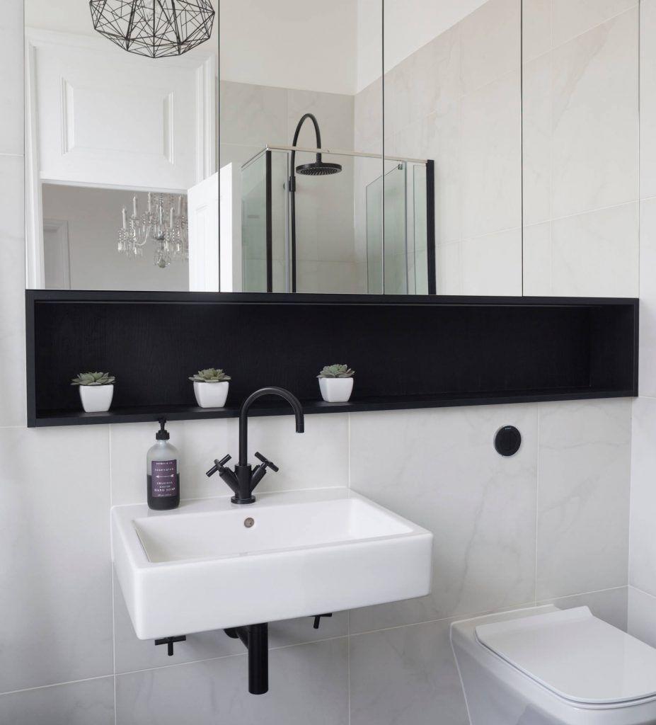 35 Best Bathroom Shelf Ideas For 2021 Unique Shelving Storage Recessed Shelves Trendy Bathroom Bathroom Shelves [ 1024 x 927 Pixel ]