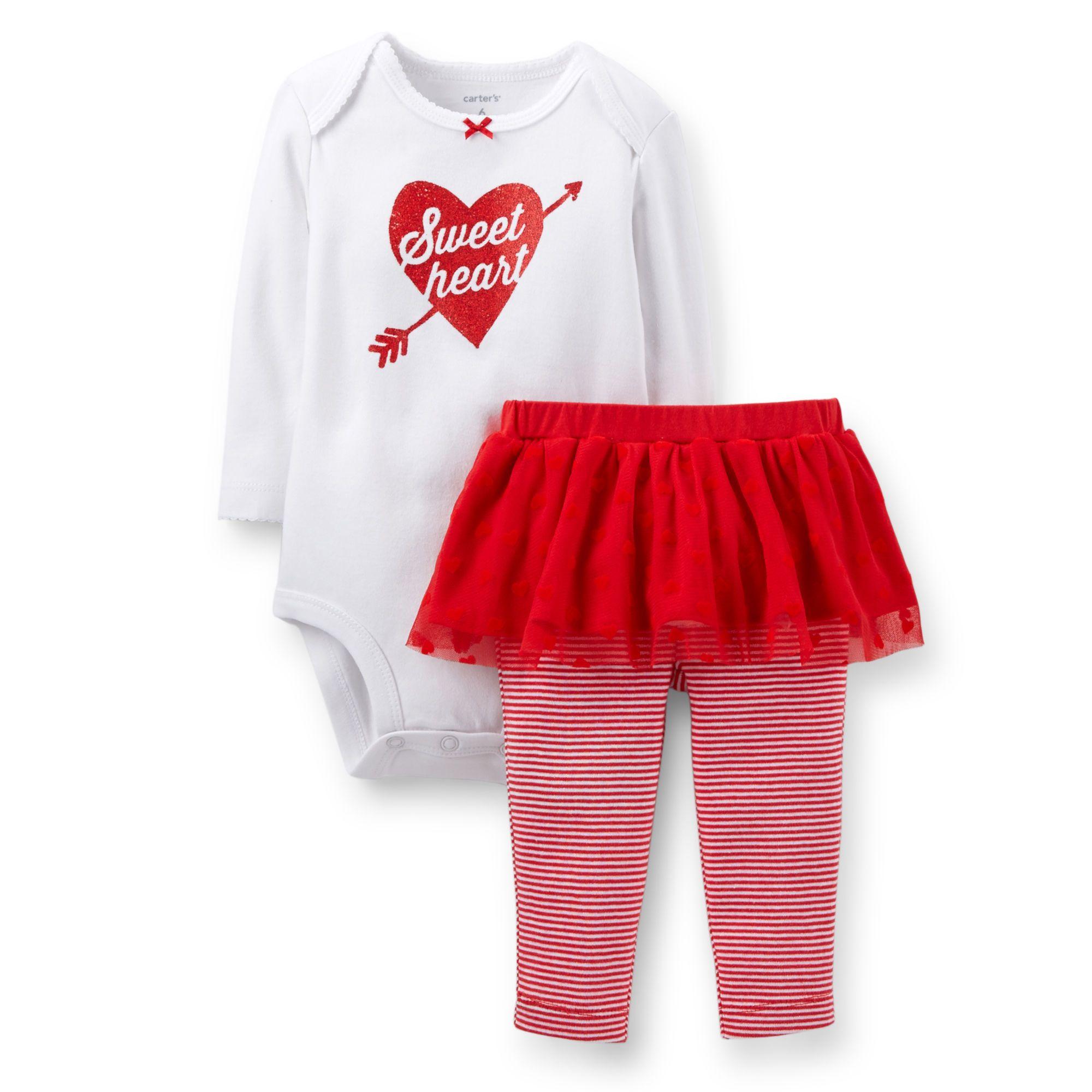 2-Piece Valentine Bodysuit & Tutu Pant Set | Carter's | Shop now: http://www.ebates.ca/coupons/carters-oshkosh-bgosh