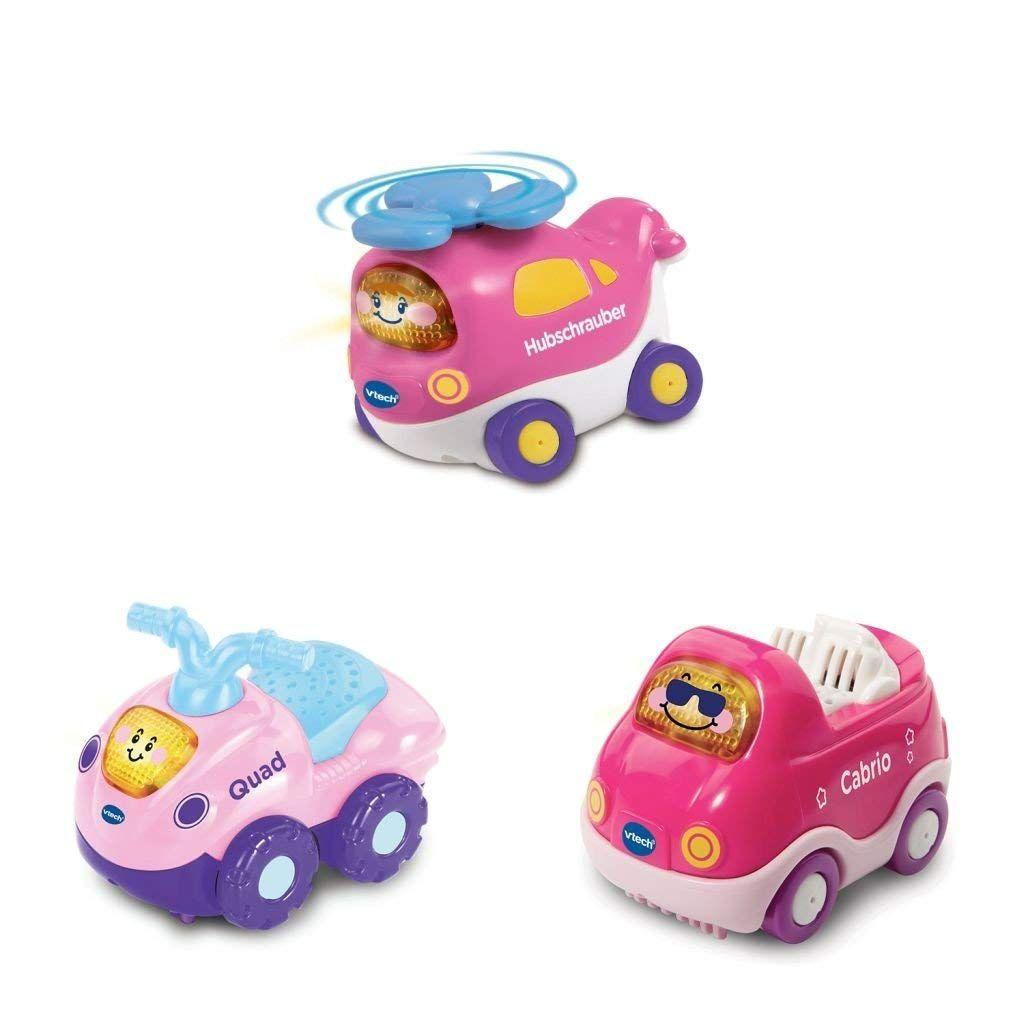 Vtech Baby 80 241254 Tut Baby Flitzer Set 14 Hubschrauber Pink Quad Pink Cabrio Pink 3 Tut Tut B Tut Tut Baby Flitzer Baby Geschenke Kinder Spielzeug