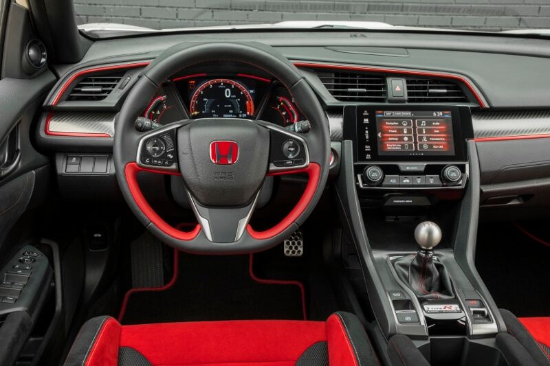 2017-2018 Honda Civic Type R Interior / Inside Cabin Pictures - FK8 ...