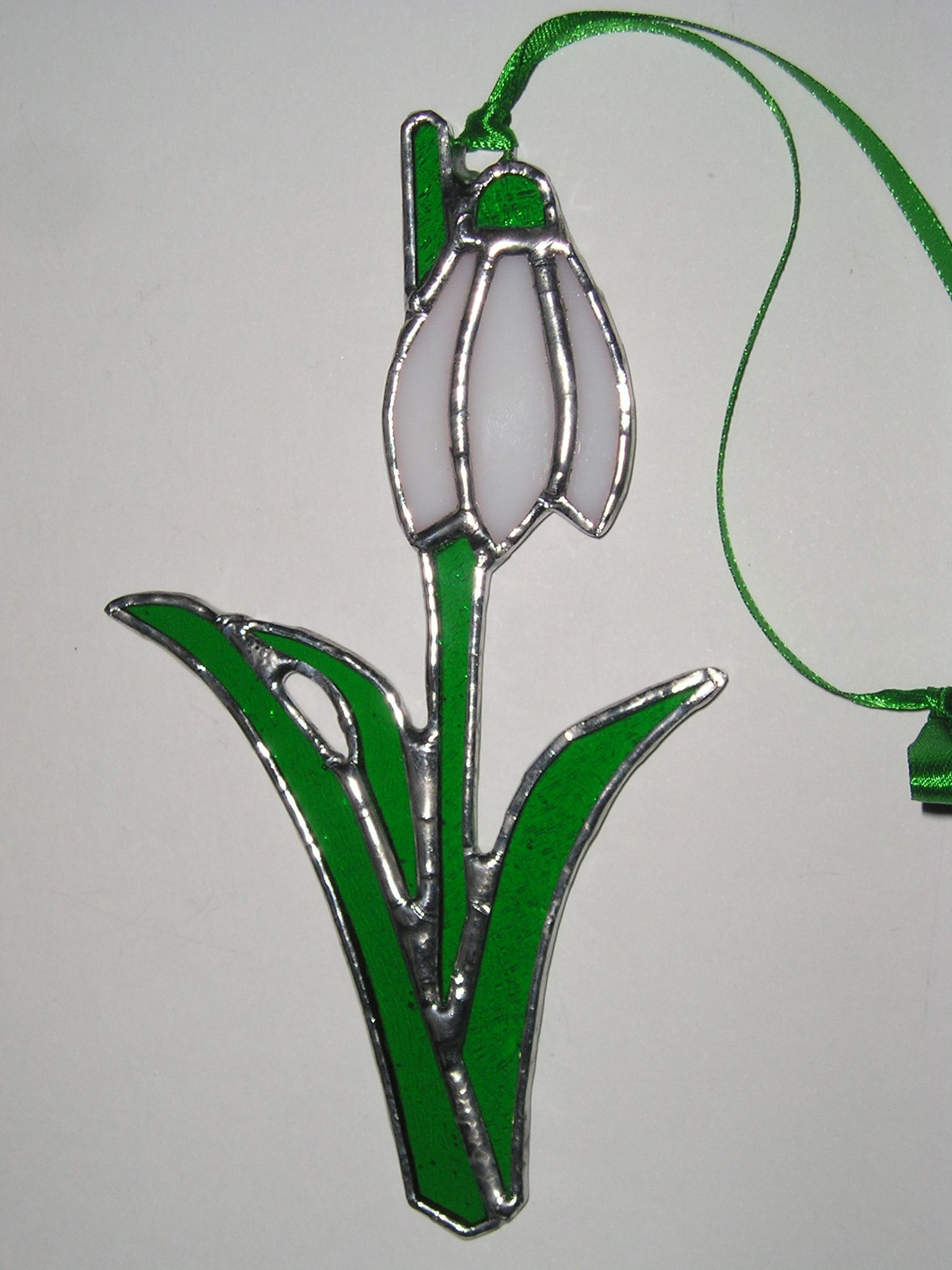 Stained Glass Snowdrop Birthday Flower For January Available To