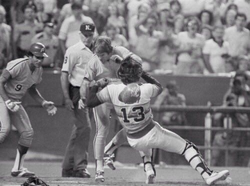 October 11 1980 At The Houston Astrodome Pete Rose Bowls Over