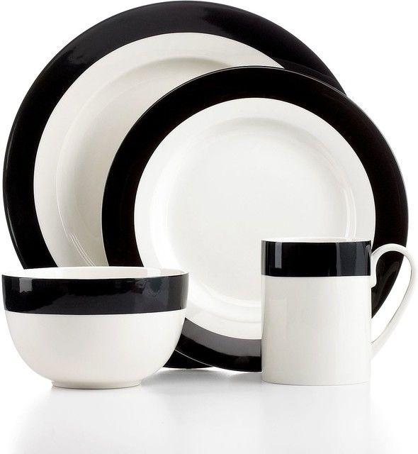 MODERN DINNERWARE BLANCO Y NEGRO  sc 1 st  Pinterest & MODERN DINNERWARE BLANCO Y NEGRO | Dishes | Pinterest | Modern ...